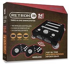 Hyperkin - Consola Retron 3, Color Negro + 2 Mandos Wireless (SNES/NES/Genesis)