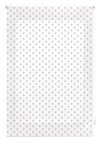 Blindecor Stars Estor Enrollable, Tela, Gris, 110 x 180 cm