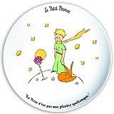 FRANCIA VINTAGE Plato de postre 20cm El Principito, la rosa y el zorro 'La Tierra no es un planeta'.