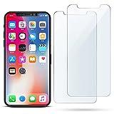 iPhone x pellicola protettiva, 2-pack antiriflesso antigraffio infrangibile durezza 9H vetro temperato anteriore trasparente pellicola protettiva trasparente HD di schermo per Apple i-Phone x