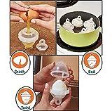 Fellibay Egg Cookers 6 Pack Hard Boiled Egg Cookers Egg Maker with 1 Egg Separator