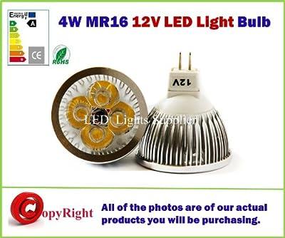 MR16 4W 12volt LED-Lampen warmweiß 3000K 50W Entspricht, Energieeinsparung, Free Super Saver Delivery