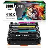 Cool Toner 4 Pack Kompatibel für HP 410X CF410X CF411X CF412X CF413X Toner für HP Color Laserjet Pro MFP M477fdw M477 M452 Colour Printer HP M477fdn M477fnw M477fdw Toner 410A M 377 477 452 Drucker