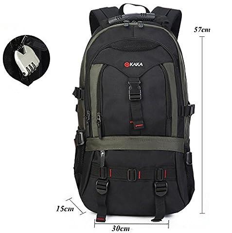 YAAGLE Laptop-Rucksack Herren 17 Zoll Reiserucksack Trekkingrucksacke Wanderrucksack Schultasche (Solid Gold Taschenuhr)