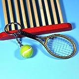 ghfcffdghrdshdfh Mini Tennis Racket Pendant Keychain Keyring Key Chain Ring Finder