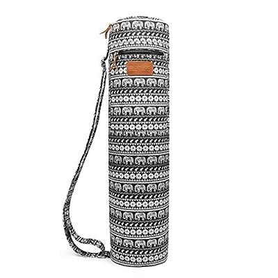 elenture Full Zip Yoga-Matte Tragetasche mit Multifunktions-Aufbewahrungstaschen