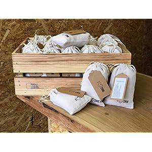 2x Zirbensäckchen mit frischen Zirbenspänen – Duftsäckchen für erholsamen Schlaf I Zirbenkissen