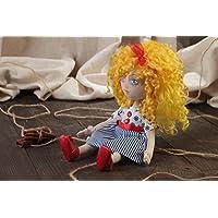 Muneca de tela artesanal infantil para decoracion de casa Marinera