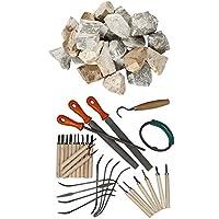 artdee® Großes Speckstein Set - 10 kg Speckstein + Specksteinwerkzeuge