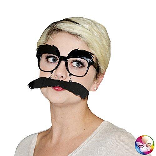 Aptafêtes–ac2543–Brille Groucho PVC Schnurrbart und (Brille Kostüm Groucho)