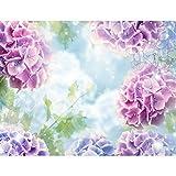 Fototapeten Blumen Hortensien 352 x 250 cm - Vlies Wand Tapete Wohnzimmer Schlafzimmer Büro Flur Dekoration Wandbilder XXL Moderne Wanddeko - 100% MADE IN GERMANY - 9414011a