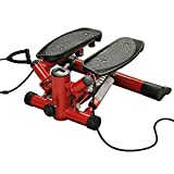 Fitness House Innovation S.L Mini Crosstrainer Computer LCD Stepper Heimtrainer Fitnessgerät, Red, One Size, 889957338264