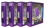 STOREX DURAGRIP 2View Binder, D-Ring, Lila und Dunkellila Bezug (33585u01C) Case of 4 violett