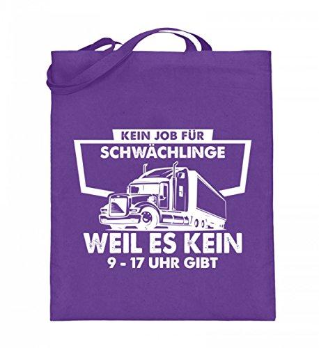 Hochwertiger Jutebeutel (mit langen Henkeln) - Trucker-LKW-Fernfahrer-Highway-Shirt-Für-Cowboys-Fernfahrer-Und-Country-Fans Violet
