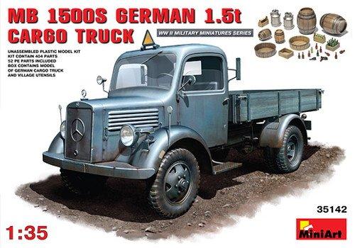 MiniArt 35142 - MB L1500S German 4 x 2 Cargo Truck