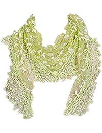 MRULIC Echarpes foulards femme Foulard en fausse fausse Fourrurede raton  laveur D élevage Véritable Élégant Col Echarpe Amovible en fausse… e8a534338c8