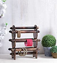 Onlineshoppee Wooden Bangle Stand ( Black )