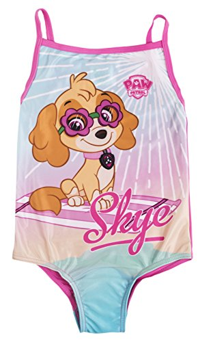 Lora Dora Paw Patrol Girls Swimming Costume Pink Skye Swimsuit One Piece Swimwear Kids Size UK 2-6 Years