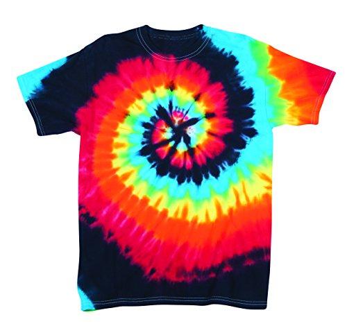 Dyenomite Herren T-Shirt, Einfarbig Opaque Mehrfarbig Mehrfarbig Gr. X-Large, Schwarz - Illusion