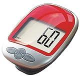 Tongshi Schrittzähler Kalorienzähler laufen Schritt zu Fuß großen LCD Digitalanzeige Clip (rot)