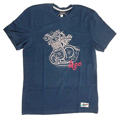 T-shirt Vintage Giacomo Agostini, Colore: Blu, Taglia: S
