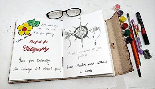 10(aus echtem Leder im Vintage-Antik-Stil Organizer mit Notizbuch, persönliches Tagebuch mit Schloss und Schlüssel Terminplaner mit lila schwarz Handmade Reise Tagebuch Geschenk für Männer Frauen