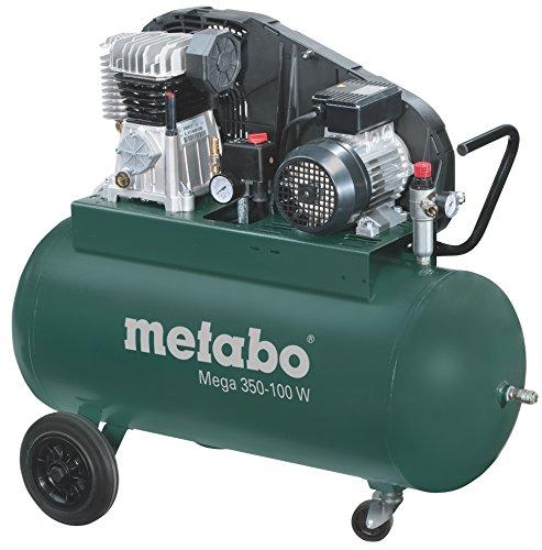 Metabo 601538000 601538000-Compresor Mega 350-100 W Potencia 2,2/3 Kw/CV calderín 90 litros