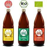 3 Liter Original Bio Kombucha Tee Getränk natürlich fermentiert und nicht pasteurisiert / Rohkost (3er Mix)