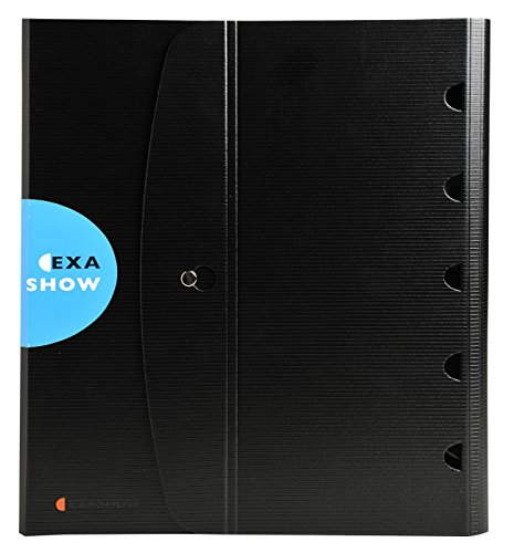 Exacompta 56034E - Carpeta de presentación de 4 anillas, 30 mm, A4, color negro