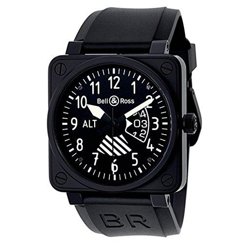 Bell y Ross Aviación BR01instrumentos de vuelo de los hombres reloj br01-altimeter