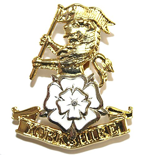 probleme-yorkshire-regiment-dores-casquette-badge-en-email-blanc