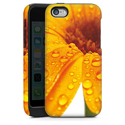 Apple iPhone 5s Housse Étui Protection Coque Fleur Fleur Gouttes Cas Tough brillant