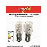 Heitech 04002503 - 2 Ersatzglühbirnen E14/7W/230V