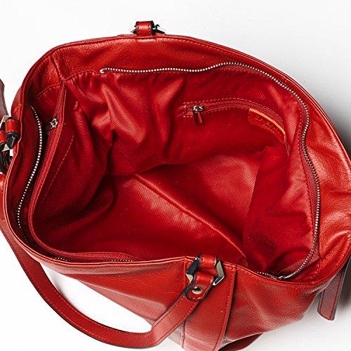 Cherry paris- paris- Tasche getragen épaule- cuir- Damen rot