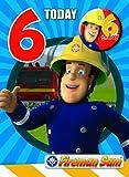 Feuerwehrmann Sam FS006 Geburtstagskarte für den 6.Geburtstag