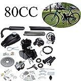 Ambiente 80cc 2 tempi di pedale a corsa Kit di conversione della bicicletta del motore a benzina per il nero motorizzato