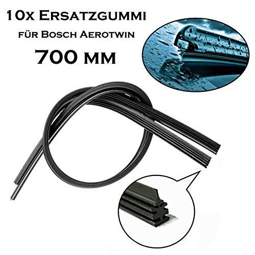 10x 700 mm Jurmann Original Premium Qualität Scheibenwischergummi Ersatz Wischerblätter Gummi für Bosch Aerotwin