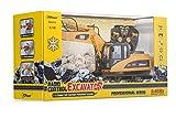 Top Race® 15-Kanal voll funktionsfähiger professioneller RC Bagger Fernbedienung traktor, batteriebetriebener Remote Control Bautraktor ~ Metall- Schaufel ~ (TR-211) -