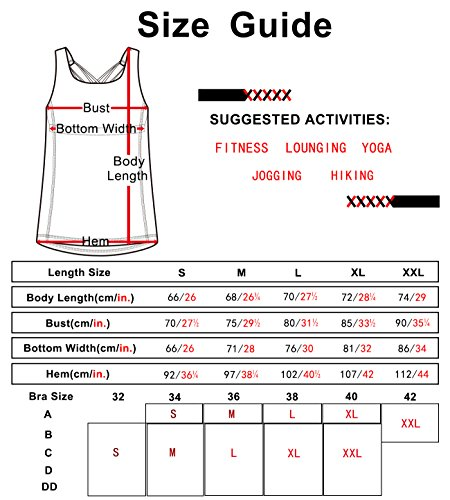 0f6e869b16923 icyzone Women s Yoga Tank Tops Workout Clothes Activewear Athletic Sport  Shirt Built in Bra