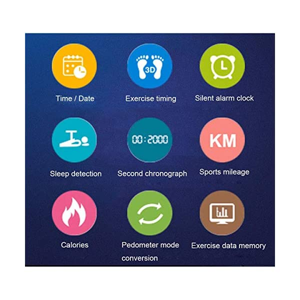 Hootracker Pulsera Actividad Fitness Smart Watch Tracker Contador de Pasos, Contador de Calorías,Distancia niños Mujer Hombre - Non-Bluetooth Non-App 2