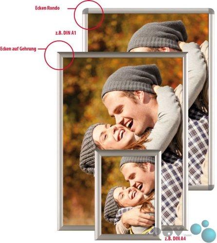 Preisvergleich Produktbild POV® Alu Klapprahmen, Plakatrahmen, Bilderahmen OptiFrame, DIN A3 Gehrung