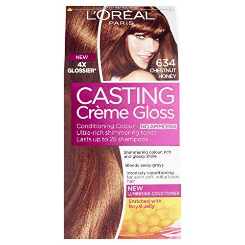LOreal LOréal Paris Casting Creme Gloss Hair Colour, Chestnut Honey Number 634 - Pack of 3