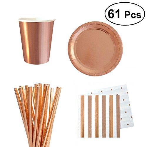weg Geschirr Weihnachten Geburtstag Party Pappteller Strohhalme Tissues Tassen Karneval Party Supplies ()
