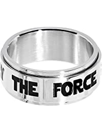 Producto oficial de acero inoxidable Star Wars puede the fuerza ser con usted Spinner Ring