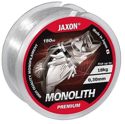 Jaxon Angelschnur Monolith Premium 150m / 0,10mm-0,35mm Spule Einzelschnüre Monofile OVP (0,02€/m) (0,30mm / 18kg)