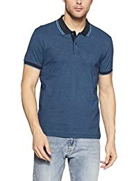 Flying Machine Men's Printed Slim Fit Cotton Polo