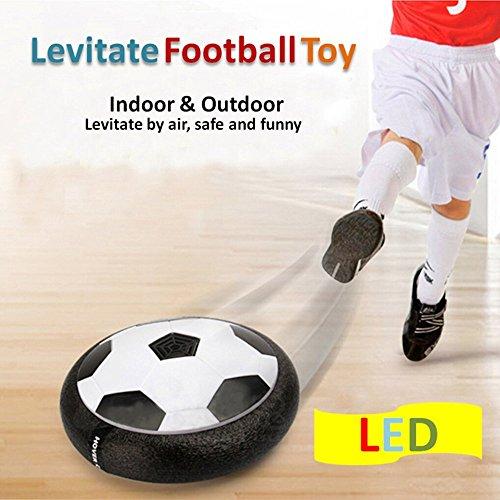 Air Hover Ball   Betheaces Juguete Balón de Fútbol Flotante  Pelota con Suspensión de Aire y Luces LED para Jugar Fútbol en Casa sin Riesgo a Romper Nada