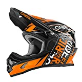 O'Neal 3Series Fuel Kinder MX Helm Schwarz Orange Youth Motocross Enduro Quad Cross, 0623-52, Größe Large (51-52 cm)