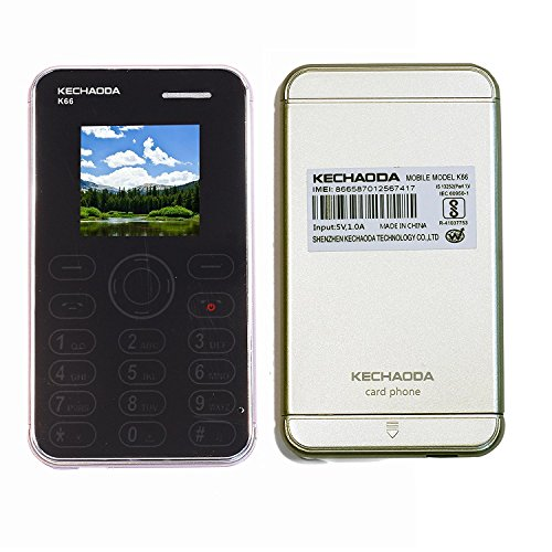 Kechaoda K66 Slim Card Size Light Weight and Stylish GSM Mobile Phone (Gold)