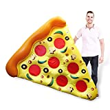 HC-Handel 923374 Aufblasbare Luftmatratze Pizzastück 180 cm bunt